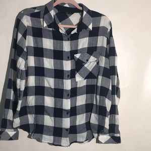 Zara plaid shirt long sleeves size XL